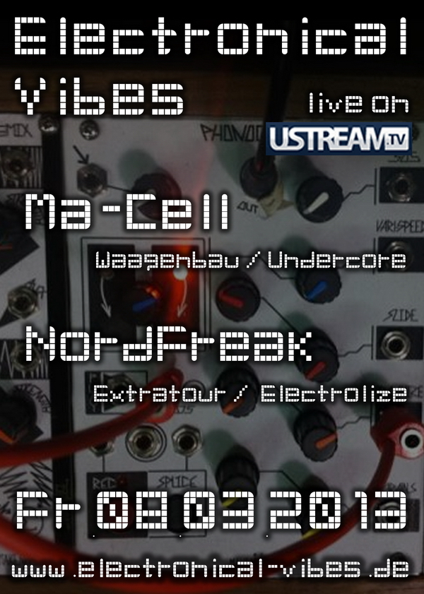 2013-03-08 - electronical vibes liveshow flyer